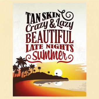 Retro Vintage Summer Poster Design