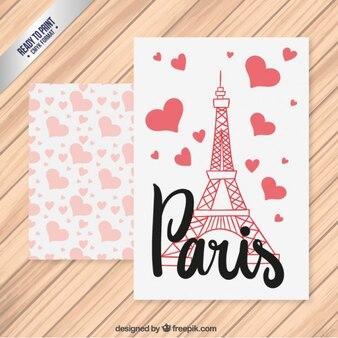 Romantique carte Paris