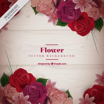 Roses réalistes fond