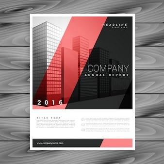 Rouge et noir modèle de brochure moderne