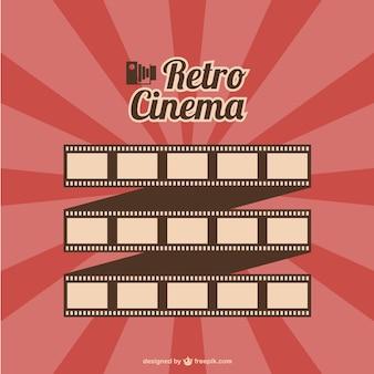 Rouleau de film rétro vecteur de cinéma