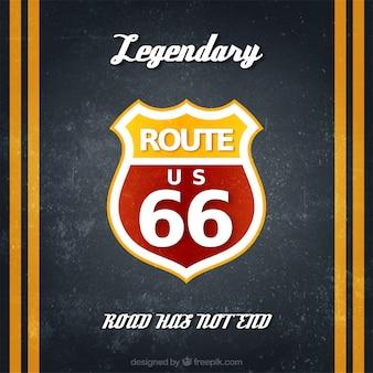 Route 66 badges