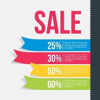 Rubans colorés de ventes