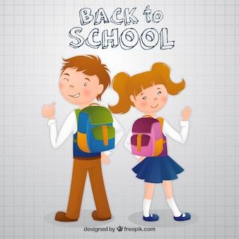 Sac à dos pour enfants avec sac à dos scolaire