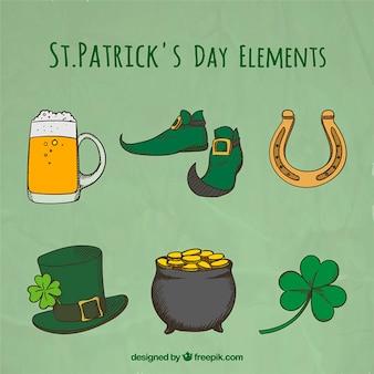 Saint Patrick Day Elements Collection