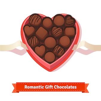 Saint Valentin, anniversaire chocolats dans la boîte