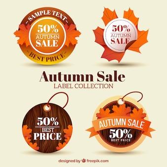 Sale stickers collection de la saison d'automne