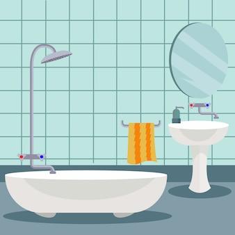 Salle de bains design de fond