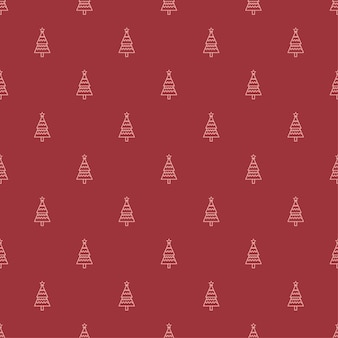 Sapin de Noël motif d'illustration Vecteur Premium