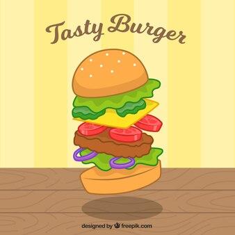 Savoureux fond d'hamburger