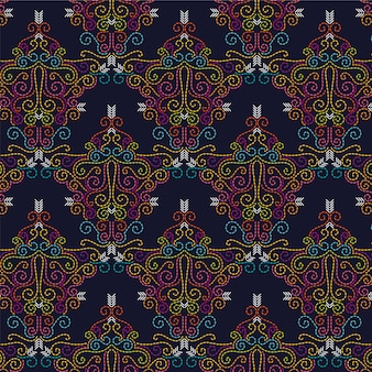 Seamless abstract vector needlepoint pattern / background. Collage, couture, points de fil, broderie.