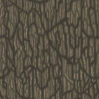 Seamless arbre de bande dessinée écorce texture vecteur Tileable illustration