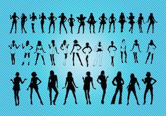 sexy silhouettes des filles