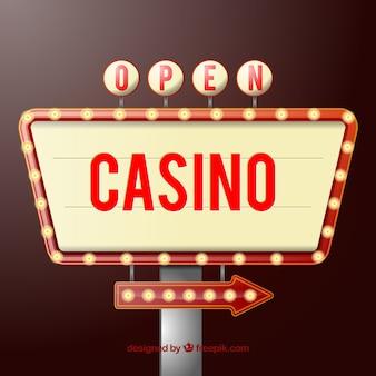 Signe de casino ouvert