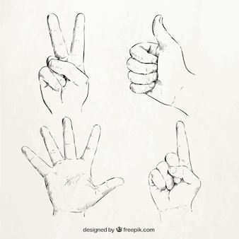 Signes de la main Sketchy