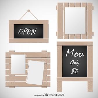 Tableau d affichage vecteurs et photos gratuites for Tableau noir en bois