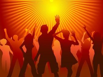 Silhouettes de personnes dansant