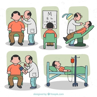 Situations médicales Illustration