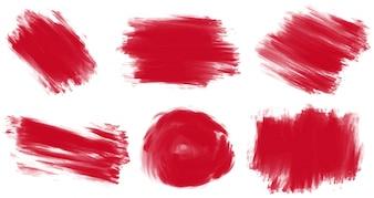 Six styles de peinture en rouge
