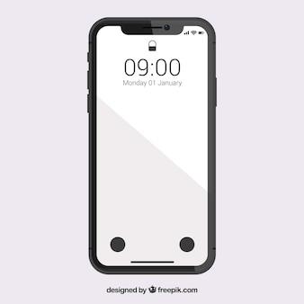 Smartphone avec écran blanc