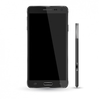 Smartphone et crayon Mockup