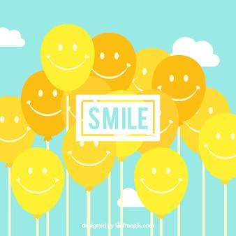 Smile balloons background