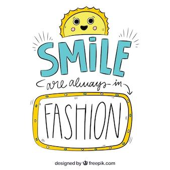 Smile is fashion background