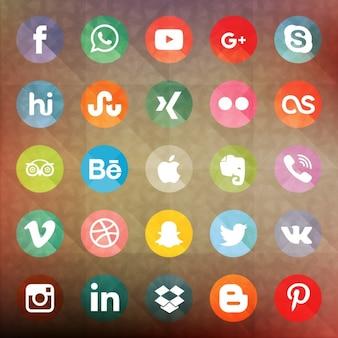 Social collection réseaux boutons