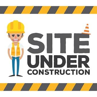 Sous la conception web de construction