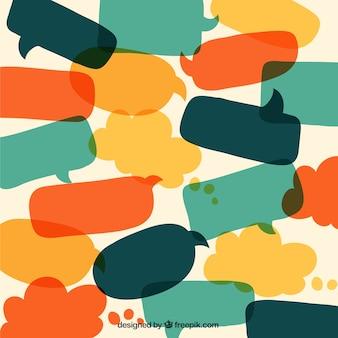 Speech bubbles dans un style de bande dessinée