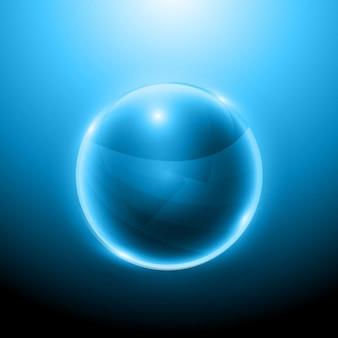 Sphère brillante 3D