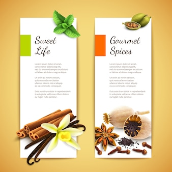 Spices bannières verticales