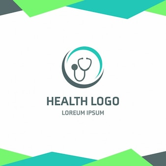 Stéthoscope santé logo modèle