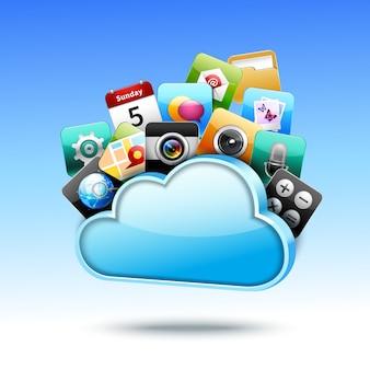 Stockage Cloud 3d