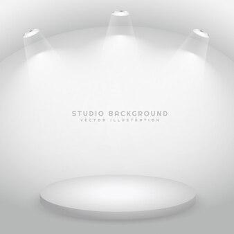 studio avec un podium
