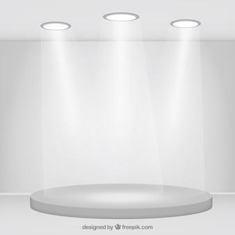 Studio de fond avec des lumières