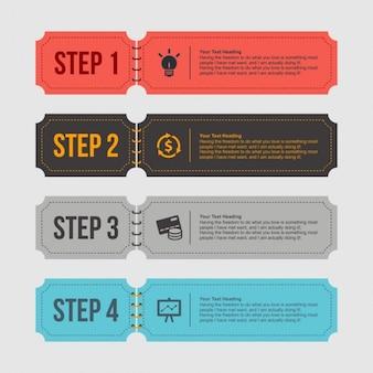 Style rétro Infographies Bannière