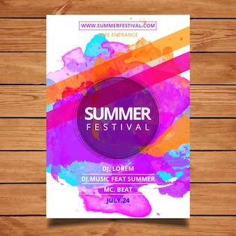 Summer modèle d'affiche du festival