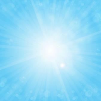 Sun gratuitement sur fond de ciel bleu vecteur