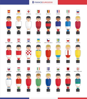 Tableau des avatars de football collection