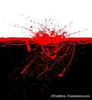 Taches de sang sur fond noir
