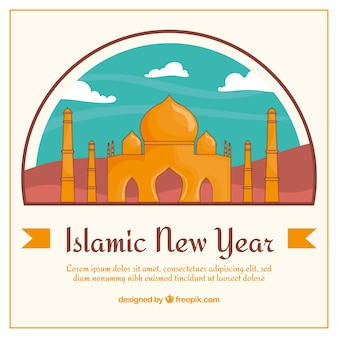 Taj mahal background of islamic new year