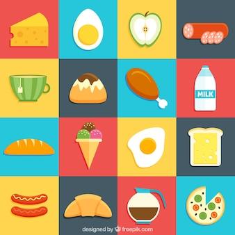 Tasty nourriture mélange design plat