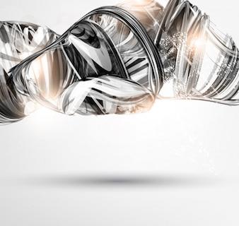Technologie lumineuse mouvement luxe numérique