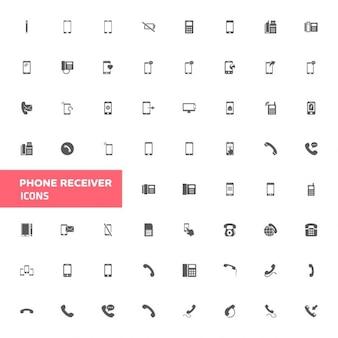 Téléphone, icône, ensemble