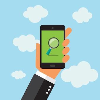 Téléphone portable design fond