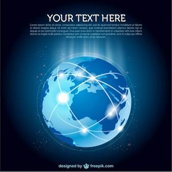 Terre vecteur du réseau WORLD WIDE