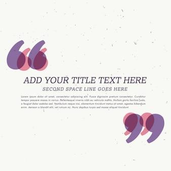 Textbox testimonial avec un espace pour votre texte