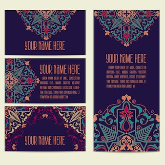 Texte de carte postale floral arabe orientale