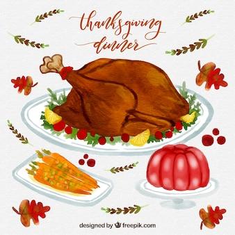 Thanksgiving aquarelle dîner pack
